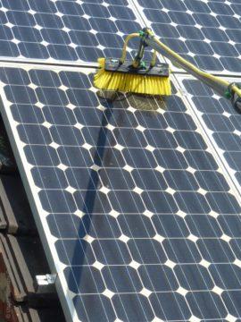 napelem tisztítás Unger Hydropowerrel
